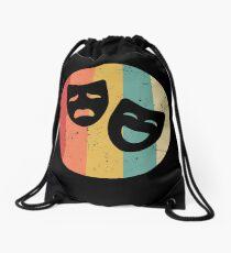 Drama Masks Theater Drawstring Bag
