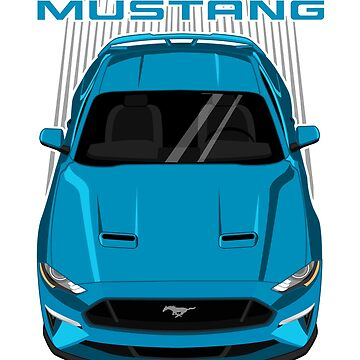 Mustang GT 2018 to 2019 - Velocity Blue by V8social