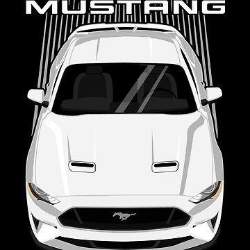Mustang GT 2018 to 2019 - White by V8social