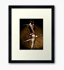 Dangerously Sharp Revisited Framed Print