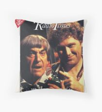 Doctor Who THE TWO DOCTORS Radio Times Cover COLIN BAKER The Sixth Doctor POP ART Throw Pillow
