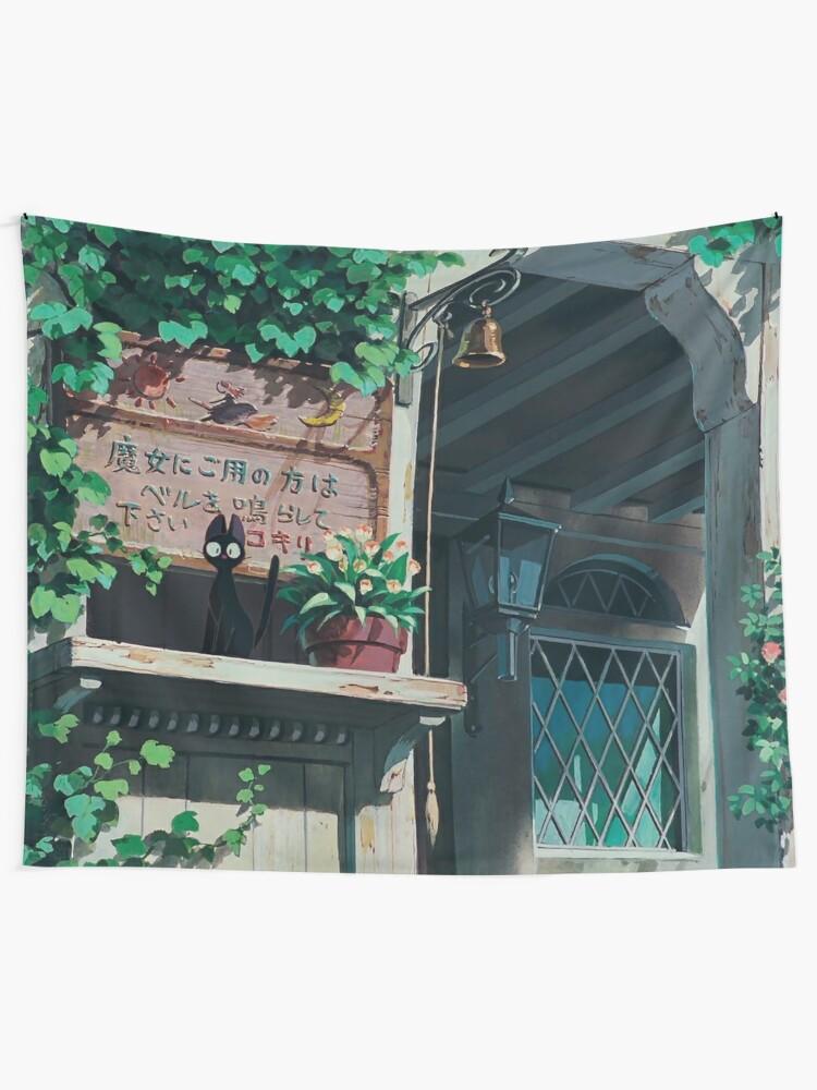 Alternate view of Studio Ghibli Landscape Tapestry