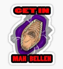 Get In Mah Belleh Purple Sticker