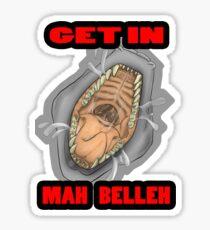 Get In Mah Belleh White Sticker
