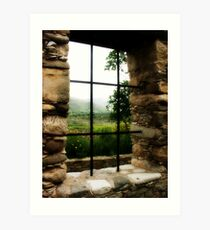 Window with a view.. Art Print