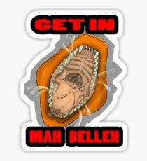 Get In Mah Belleh Orange Sticker
