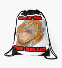 Get In Mah Belleh Orange Drawstring Bag