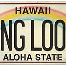 Vintage Hawaii License Plate Hang Loose by northshoresign