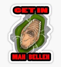 Get In Mah Belleh Green Sticker