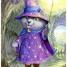 Purlin the Grey - wizard cat by Petra Brown