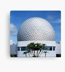 Retro Epcot Ball as seen in 1982 Canvas Print