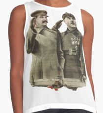 #Stalin #Soviet #Propaganda #Posters #twopeople #matureadult #adult #standing #militaryofficer #militaryperson #military #people #uniform #army #portrait #militaryuniform #war #realpeople #men #males Contrast Tank