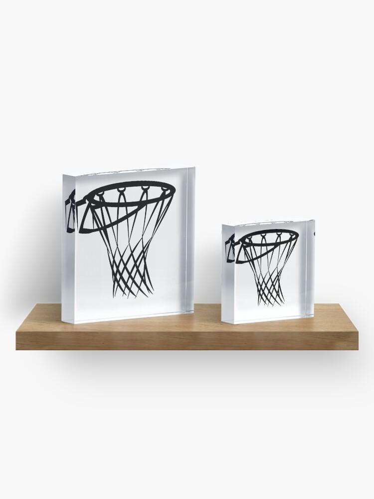 Alternate view of Basketball basketball hoop Acrylic Block