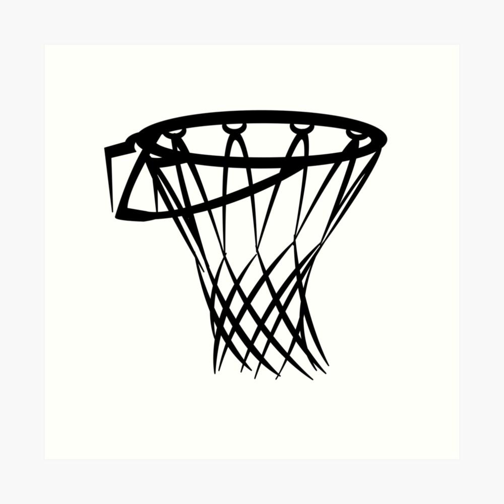Basketball basketball hoop Art Print