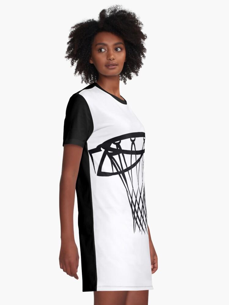 Alternate view of Basketball basketball hoop Graphic T-Shirt Dress