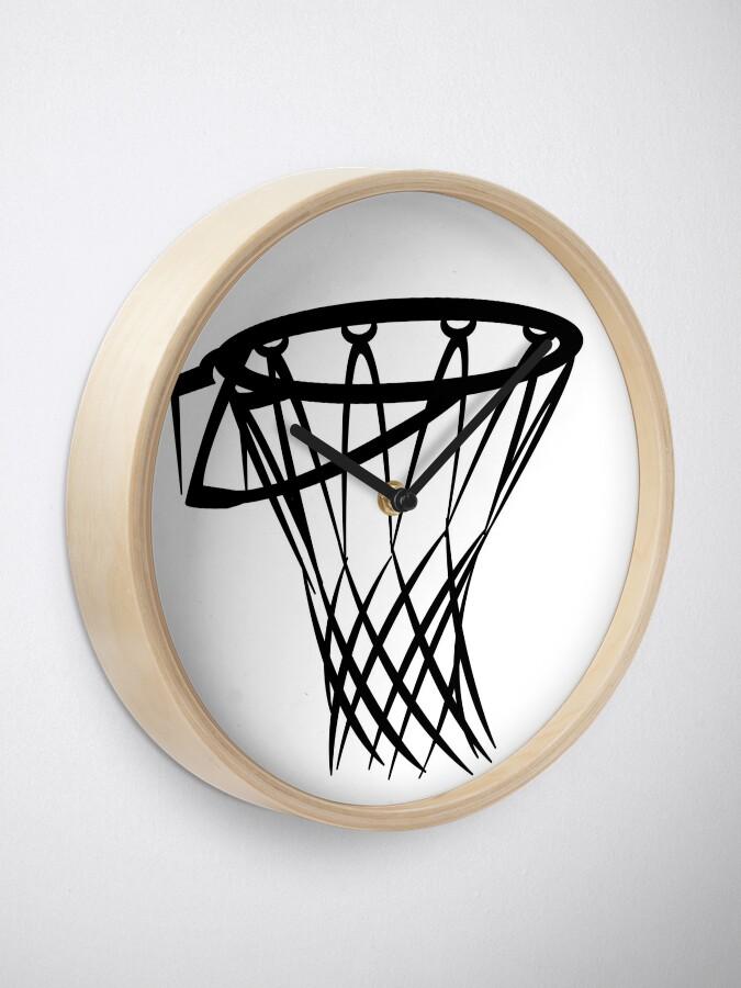 Alternate view of Basketball basketball hoop Clock