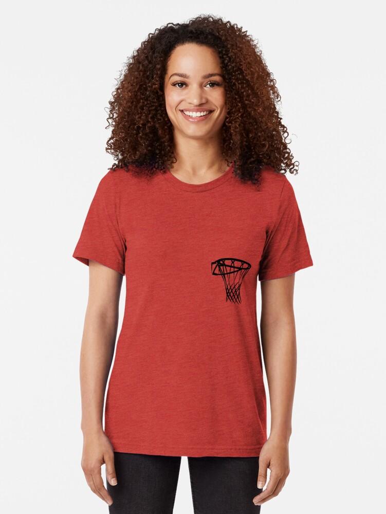 Alternate view of Basketball basketball hoop Tri-blend T-Shirt