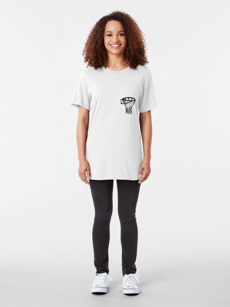 Alternate view of Basketball basketball hoop Slim Fit T-Shirt