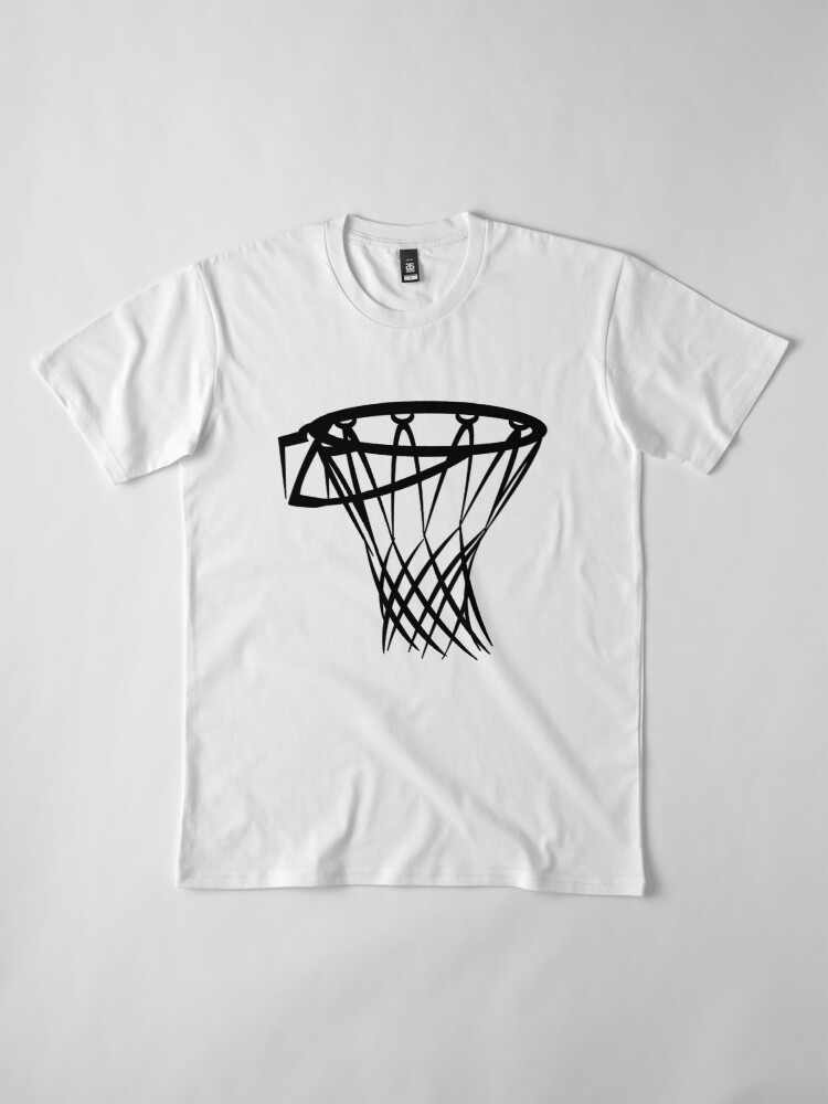 Alternate view of Basketball basketball hoop Premium T-Shirt