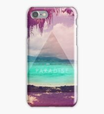 Paradise // Hipster triangle beach photo faded retro iPhone Case/Skin