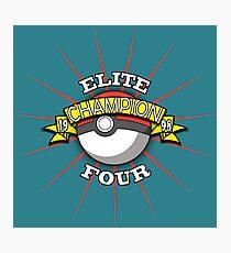 Elite Four Champion Photographic Print