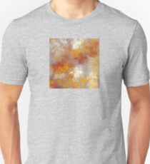 Abstract in Butterscotch, Gray, and Red T-Shirt