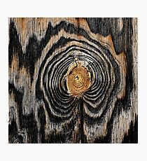 Wood knot Photographic Print