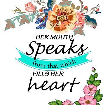 Her Mouth Speaks From That Which Fills Her Heart  by Roland1980