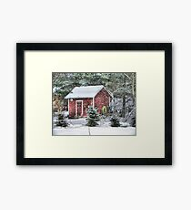 Little Red Garden Shed Framed Print
