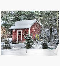 Little Red Garden Shed Poster