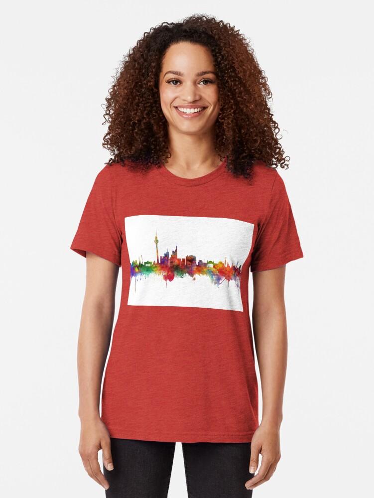 Alternative Ansicht von Berlin Deutschland Skyline Vintage T-Shirt