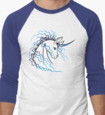 Ki-Rin (Japanese Unicorn) - Blue Men's Baseball ¾ T-Shirt
