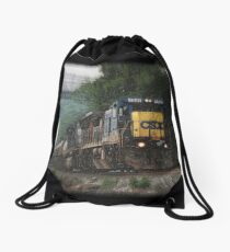 Nightmare Train Drawstring Bag
