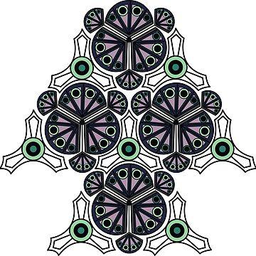 Art Deco Pattern by DuemmelDoodles