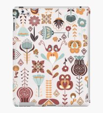 Scandinavian Style Flowers in Blue and Orange iPad Case/Skin