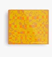 Geometric in Yellow and Orange Metal Print
