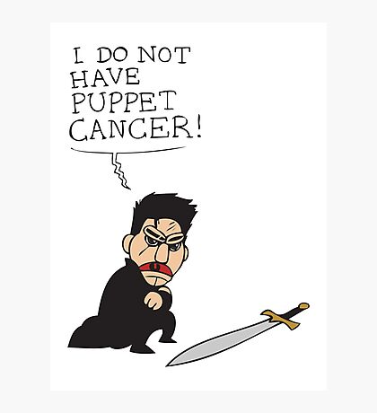 Puppet Cancer Photographic Print