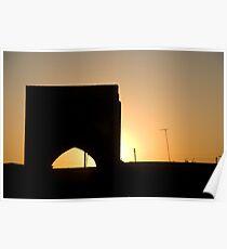 Bukhara archway at sunset Poster