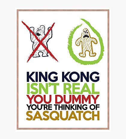 King Kong vs Sasquatch Photographic Print