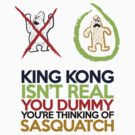 King Kong vs Sasquatch by ElocinMuse