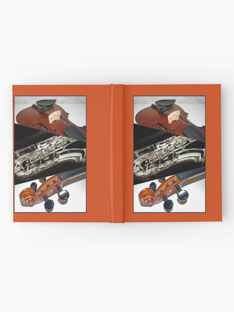 Alternative Ansicht von Violin and Saxophone Collage Notizbuch