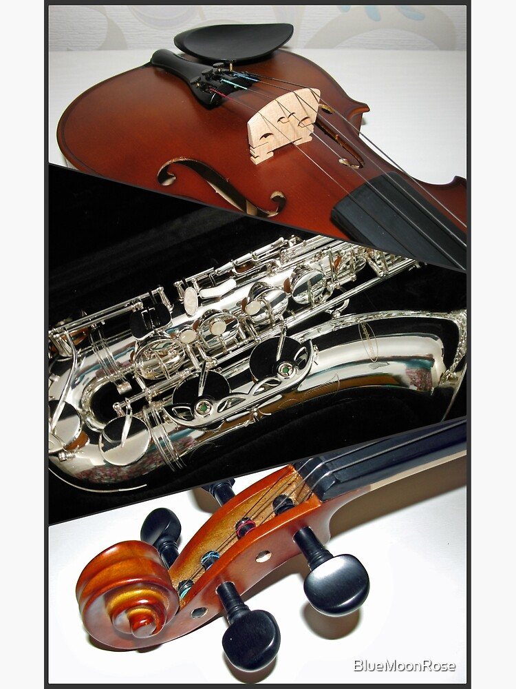 Violin and Saxophone Collage von BlueMoonRose