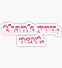 thank you, next Sticker