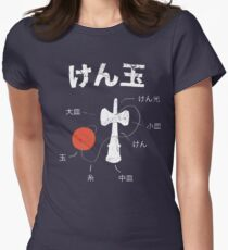 Kendama Anatomy Women's Fitted T-Shirt