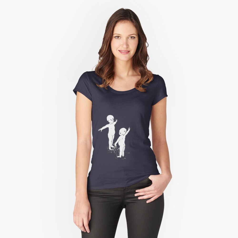 Three Faces Eight Eyes Fitted Scoop T-Shirt