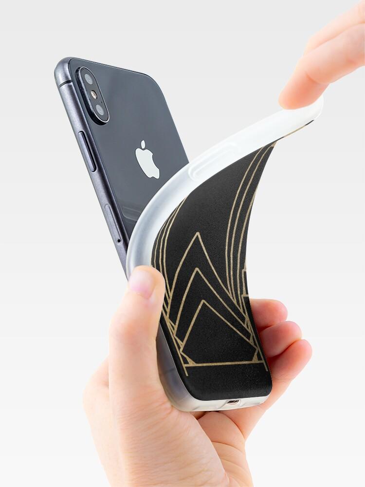 Vista alternativa de Funda y vinilo para iPhone Diseño Art Deco