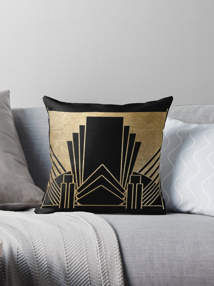 Art Deco Throw Pillows.Art Deco Design Throw Pillow By Peggieprints