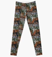 Wild Canadian Moose Grazing in Winter Forest Leggings