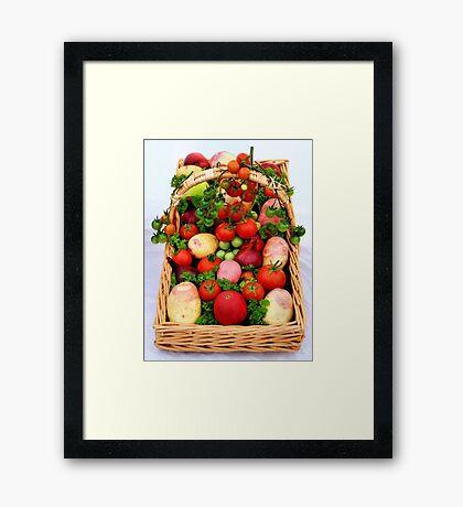 Basket of Vegetables Framed Print
