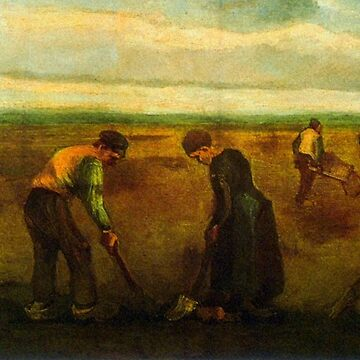 'Farmers' by Vincent Van Gogh (Reproduction) by RozAbellera